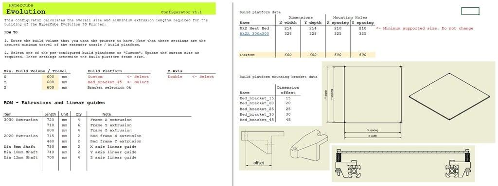 Bom Für Hevo 300*300*300 Duett Control System Türen, Tore Und Fenster Heimwerker