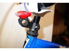 Bike light holder