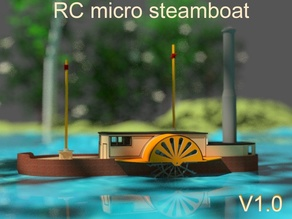 RC micro steamboat paddleboat V1 radio control boat