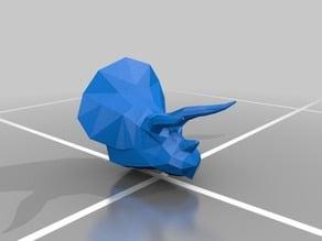 LowPol Triceratops Head