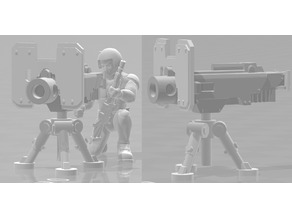 Portable Heavy Bolter - Heavy Weapons Squad - WH40k