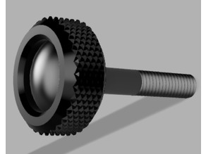 Finger Screw with knurled surface
