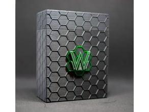 Sci-Fi Deckbox with interchangeable Netrunner Emblems