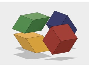 Golden Rhombohedra, Acute, Obtuse, Golden Ratio, Dodecahedron, Rhombic Triacontahedron