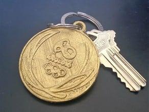 Rio 2016 Olympic Medal Keychain