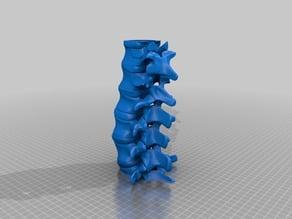 Spinal Column Tea Light Holder