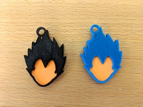 Vegeta Keychain (Fitted, Three Pieces)