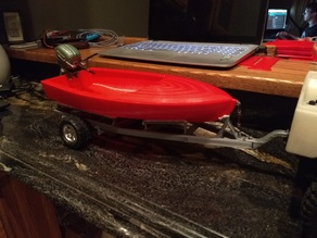 1/10 RC Boat and Trailer