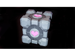 Companion cube ring box (Portal 2)