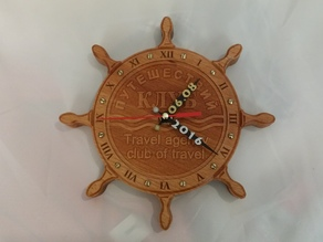 wall clock on birthday. CNC cut. wood.