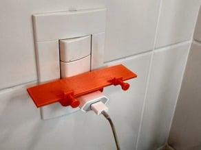 Smartphone charging shelf - For Brazilian sockets! Fits iPhones