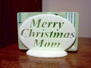 Merry Christmas Mom Gift Card Holder