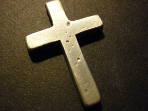 Simple cross mold for pewter casting