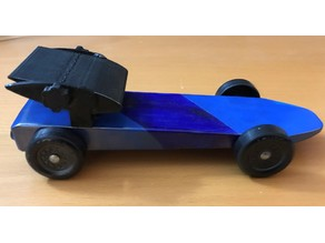 Pinewood Derby Spoiler and Weight Holder