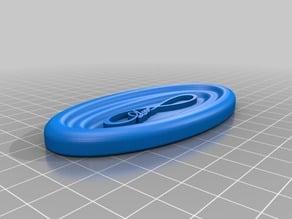 Elliptical Soap Dish with fusion file