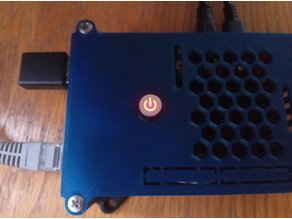 Raspberry Pi4 case with LED power button