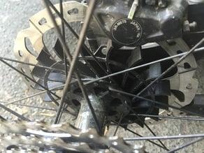 Mountain Bike rotor centrifugal cooling fan