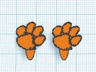 New Improved Clemson Paw Cufflinks.