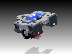 X carriage designed for E3D V5 extruder nozzel