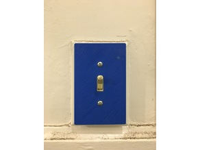 Cover plate for traditional American light switch