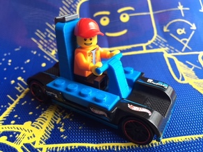 Hot Wheels Gopro car Lego seat