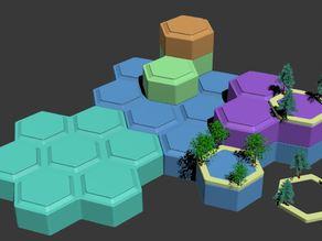 Open WarHex - modular, scenic 3D Hex terrain project