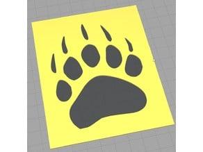 Bear Claw Stencil