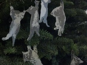 Hang in There Kitty Ornaments