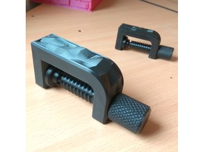 Clamp with low-poly inlay \ dual extruder