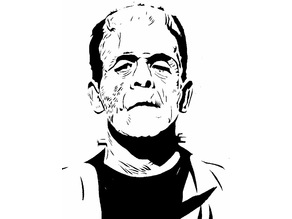 Frankenstein's Monster stencil