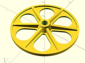 Wheel for R/C Slowflyer / Shockflyer (parametric, OpenSCAD)