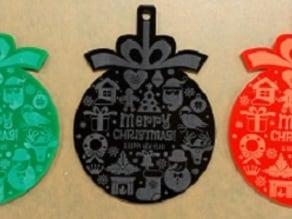 Laser Cut Christmas Tree Decoration - Ball-shape Ornament