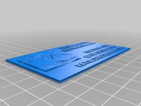 Lithophane Business Card