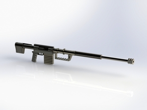 Multiple parts sniper rifle
