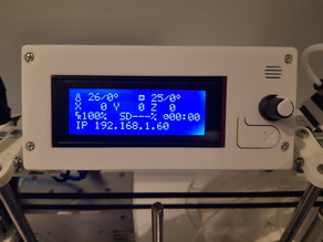 RepRap discount 2004 LCD Display cover for Hypercube