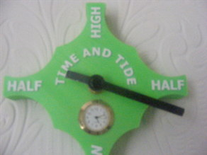 'Cross' time and tide clock PRINTED