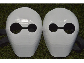 Gagi and Guge's masks from tokyo ghoul