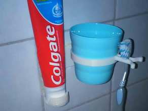 Toothpaste, Cup & Toothbrush holder