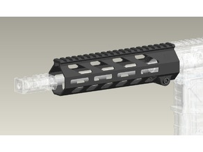 Airsoft M-lok handguard with delta ring