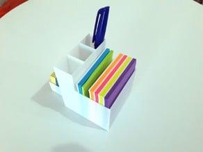 Postit and pencil holder