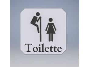 Signalétiques Toilettes