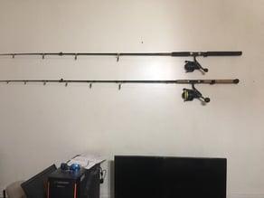 Horizontal fishing rod holder