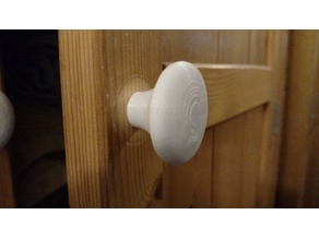Cabinet knob with nut