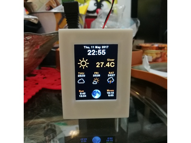 ESP8266 WiFi Weather Station with Color TFT Display by mkchung22