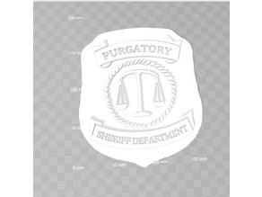 Wynonna Earp Purgatory Police Badge