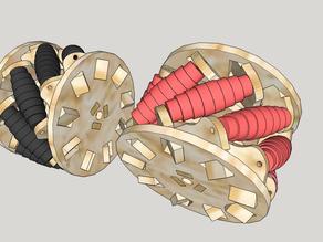 Omni wheel laser - MECANUM