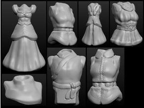 Sculptris OBJ Bits: Fantasy Shirts