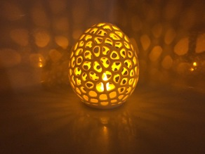 Voronoi LED Egg tealight shade