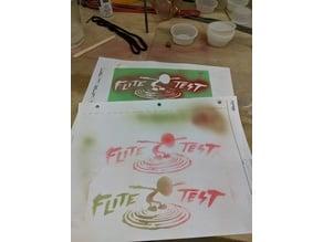 Flite Test Logo Stencil