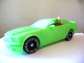 Polystang - 3D Printed Pinewood Derby Mustang